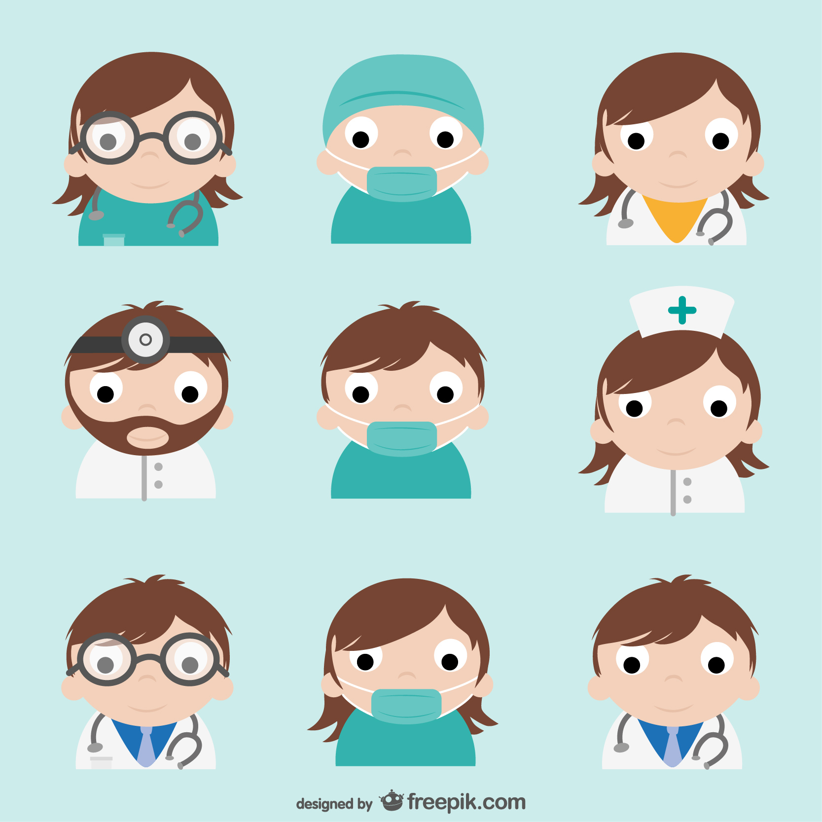 http://www.freepik.com/free-vector/doctor-characters-pack_738193.htm#term=hospital&page=3&position=1